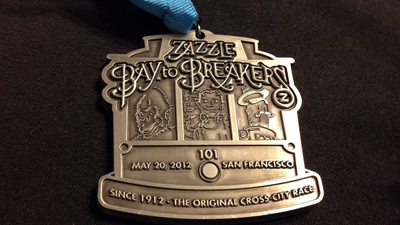 medal (Not really) racing from Bay to Breakers