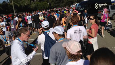 shirtline (Not really) racing from Bay to Breakers